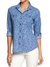 AUTH. BNWT OLD NAVY WOMENS PRINTED CHAMBRAY SHIRTS SZ.M