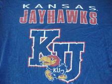 Vintage NCAA Kansas Jayhawks Rock Chalk Jayhawks basketball football T Shirt L