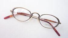 Brillenfassung Brille Titan Gestell oval antikgold nickelfrei Klassikstil unisex