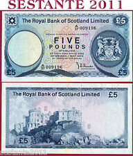 SCOTLAND SCOZIA  -  5 POUNDS 1.5. 1975 - Royal Bank Limited -  P 337 - BB+ / VF