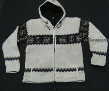 J567 M Multi Wool Fleece Hoodie Deer Tree Design knitted winter men Jacket Nepal