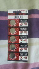 5X CR2025 3V NEW LITHIUM BUTTON / COIN  BATTERIES UK (FREE 1st Class Delivery)