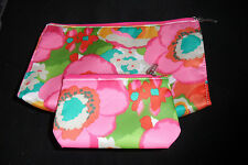 Clinique make up cosmetic bag/pouch set of 2