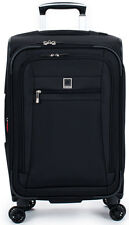 Delsey Helium Hyperlite Carry On Expandable Spinner Trolley Luggage - Black