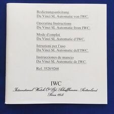 100% ORIGINAL IWC DA VINCI SL AUTOMATIC WATCH BOOKLET CONTAINING 51 PAGES