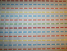 "Hancock Fabrics Periwinkle & Grey Stripe with Blue Yellow Red Cotton 34"" x 44""w"