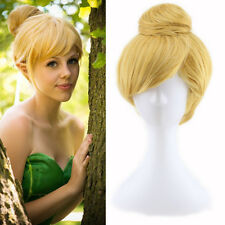 2017 Disney Tinker bell Blonde Style Cosplay Wigs Cos Wig Free Shipping