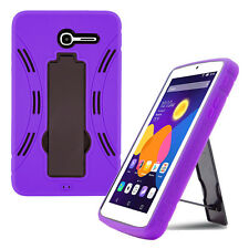 purple shockproof hybrid case cover for alcatel one touch pop 7 lte tablet 9015w