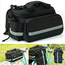 NEW Cycling Bike Travel Bicycle Rear Seat Pannier Shoulder Bag Pouch Black