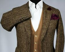 Harris Tweed Blazer Jacket Brown Wedding Country Races 36XS SUPERB QUALITY 520