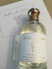 Joie Folle de Joie Perfume Sample Mini Spray 2mL Eau de Parfum Vial Spray Only