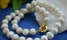 10-11MM White Akoya Cultured Pearl Necklace 18''AA