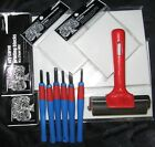 Lino Alternative / Ezy Carve Block Printing Set - Large - Excellent Value