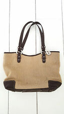 The Sak Shoulder Purse Handbag Khaki Brown Woven Knit
