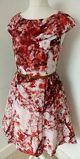 TED BAKER - NEW WITH TAGS - SIZE 12 LADIES CHERRY BLOSSOM SILK PRINT DRESS