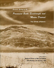 LEGENDARY Panamint gold & silver mines, RARE report, Death Valley, 12 BIG maps !