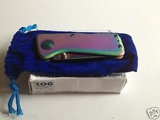 SOG  RAINBOW BLINK RBBA-99 DISCONTINUED MODEL Limited First Edition #268 MO/CLIP