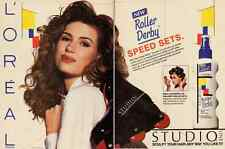 1992 magazine ad for L'Oreal 'Roller Derby' Hair Speed Set  -051612