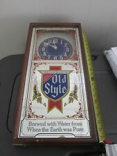 Heileman's Old Style  Beer Sign and Clock mirror