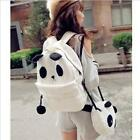 Women Girl Fashion Cute Cartoon Panda Bag Canvas Backpack Shoulder School Bags L