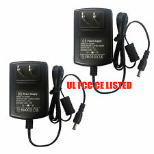 2pcs AC Adapter DC 12V 3A 12V3A Power Supply for Cameras LED 5.5*2.1mm UL listed