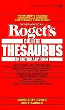 Roget's College Thesaurus in Dictionary Form, The New American: Revised and Enl
