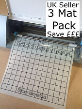 "3x (12x12"") Grid Mats Silhouette Cameo 2 cutting plotter Carrier sheet Save £££"