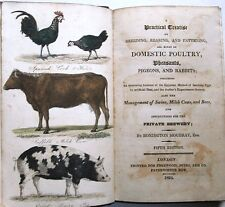1824 DOMESTIC POULTRY Hens Chickens Duck Turkey HOME BREWING BEERS Farming Cows
