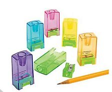 Lot of 24 Plastic Pencil and Crayon Sharpeners Bulk School Office Supplies