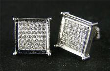 Men And Ladies 10 Mm Diamond Stud Earrings 1.50 Ct Look