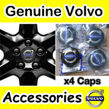 Genuine VOLVO Black Alloy Wheel Centre Hub Cap Kit S40 V50 C70 S60 V70  S80 XC90