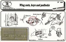 Royal Model 1/35 Wing Nuts, Keys and Padlocks [Photo-etch AFV Diorama Acc.] 038