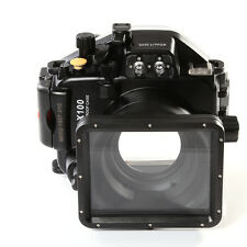 40M/130ft Waterproof Underwater Housing Case For Panasonic Lumix LX100 24-75mm