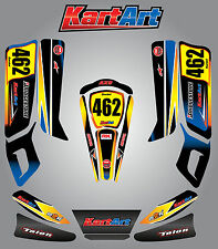 Arrow AX9 junior full custom KART ART sticker kit SUNRISE STYLE / graphics