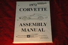 1972 CORVETTE C3 ASSEMBLY MANUAL 100'S OF PAGES OF DETAILS & ILLUSTRATIONS