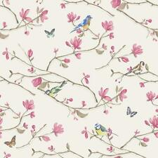 HOLDEN DÉCOR KIRA BIRD BUTTERFLY PATTERN FLORAL FLOWER MOTIF WALLPAPER ROLL WH-P