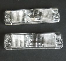 VW GOLF MK1 & MK2 JETTA CADDY POLO - FRONT INDICATOR LENS SET LH+RH CLEAR PAIR