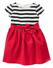 Gymboree Olivia the Pig Ivory Striped Red Full Skirt Christmas Party Dress 18 24