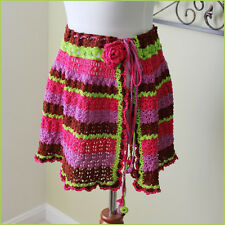 Custom Boutique Crochet Skirt Beach Swimsuit cover up ONE SIZE adjustable NEW