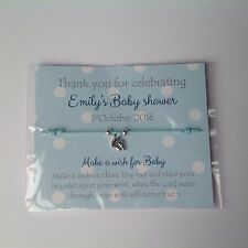 Baby Shower Favour, Friendship / wish bracelet, girl, boy, Polka Dot Card