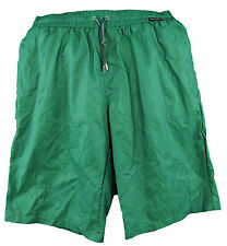 DOLCE & GABBANA Men's Green Solid Laced Closure Swim Shorts Q00319 Sz M/5 $520
