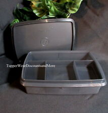 Tupperware NEW Cosmos Black Sto Stow N Go TupperCraft Divided Organizer Box
