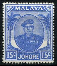 Malaya johore 1949-55 SG#140, 15c outremer mh #D28467