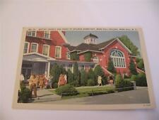 VINTAGE POSTCARD BAPTIST CHURCH AND FRONT  SPILMAN DORMITORY MARS HILLS COLLEGE