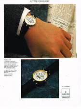 PUBLICITE ADVERTISING 084  1990  GUCCI  collection montre LE QUANTIEME