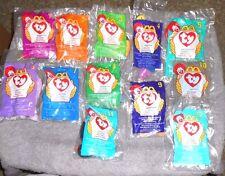TY Teenie Beanie Babies 1998 McDonald's Collection 1-12 Twigs Doby Bongo Peanut