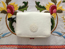 NWT*KIPLING TOPS MINI WALLET+SML CHANGE PURSE*CARD ID HOLDER*GORGEOUS PURE WHITE