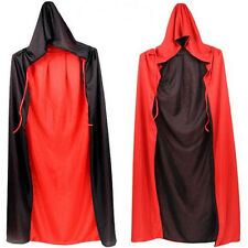 Luxury Black Red Vampires Capes Halloween Hooded Reversible Dracula Devil Cloaks