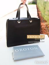 BNWT OROTON RRP$345 Entourage Leather Bag Satchel Tote Handbag Black