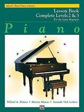Alfred's Basic Piano Library: Piano Lesson Book, Complete Levels 2 & 3 for the